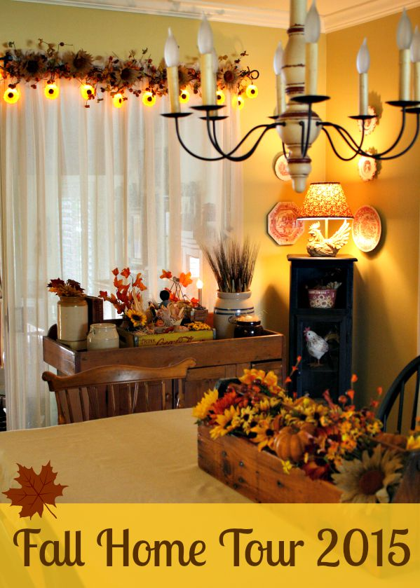 Exceptional September Decorating Ideas Part - 10: ... Sunflowers And Flags For Summer But He Switched Out The Flags For Some  Fall Fixings We Found At Walmart. Who Would Think Walmart Fall Decorating  Ideas??