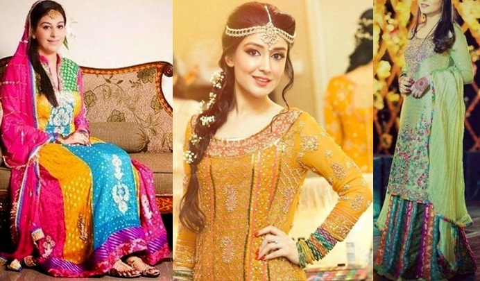 Mehndi Function Dresses 2015 : Style mehndi dresses for pakistani brides