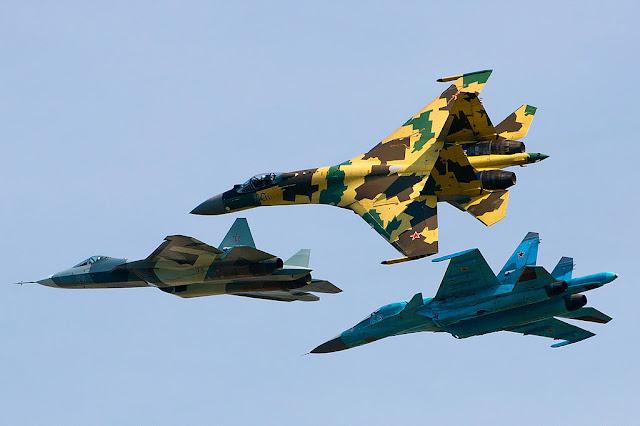su-35, su34 and t-50