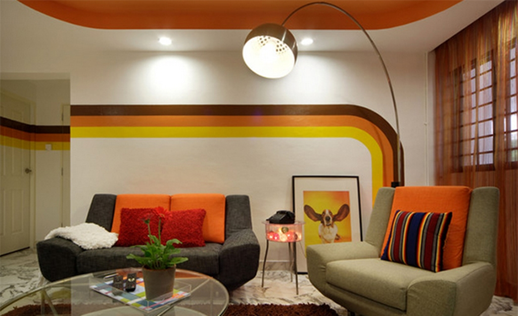 Décoration salon moderne avec des murs rayés ~ Décor de Maison ...