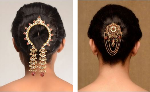 Hairstyle Bridal Juda Images : Hair accessories to flaunt this wedding season bling sparkle