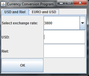 Currency Conversion program in Java