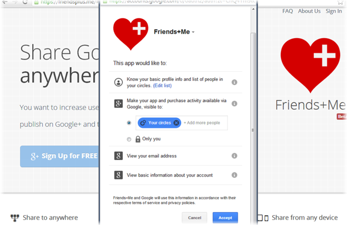 friendsplusme signup google plus for auto repost