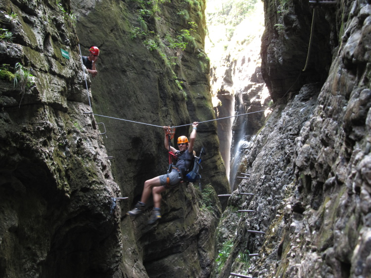 Klettersteig Postalmklamm : Postalmklamm klettersteig topo nejlepší ferraty