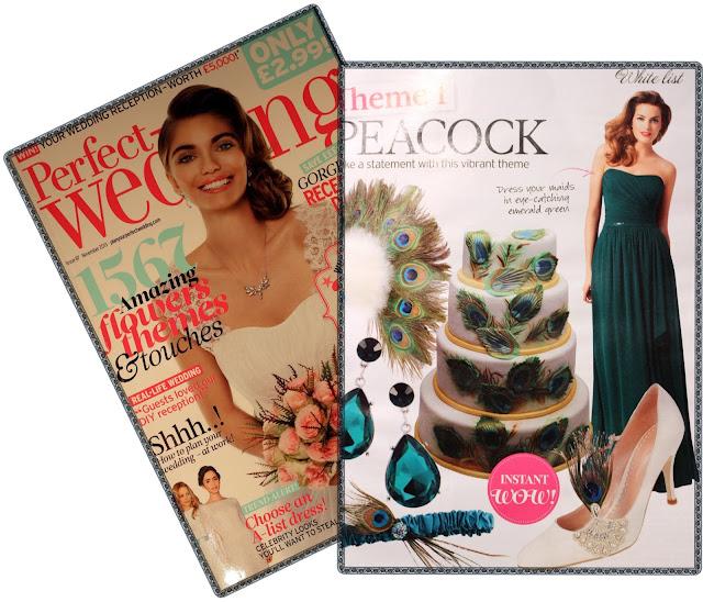 Peacock Feathers Wedding Cake - Perfect Wedding Magazine