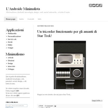 L'Androide Minimalista Blogger Template. minimalist design blogger template. minimalist design blog template