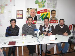 Diputados Pronvinciales de IU en Ronda con el Coordinador Comarcal