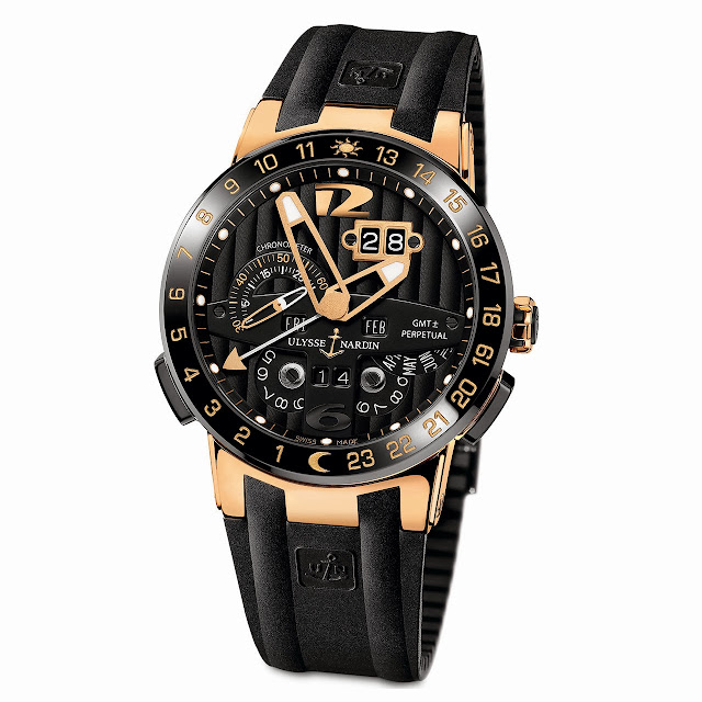 Ulysse Nardin Black Toro Automatic Watch rubber
