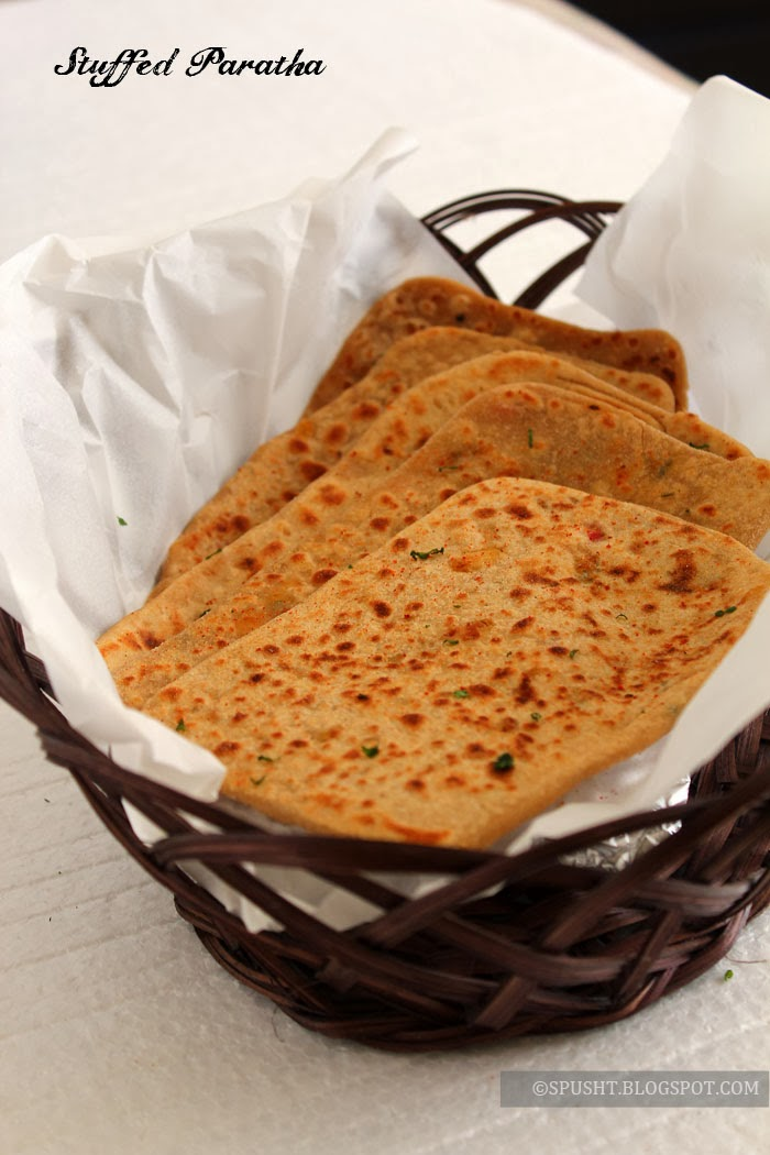 Spusht | Cabbage Paneer Stuffed Paratha Recipe