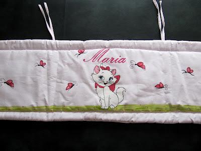 Resguardo de berço pintado gatinha marie