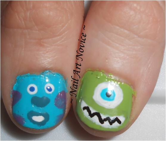 nail art novice monsters university