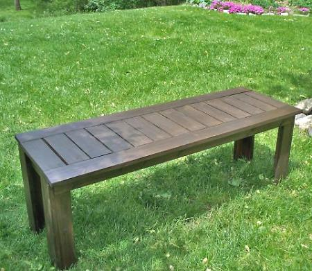 ana white simple outdoor bench
