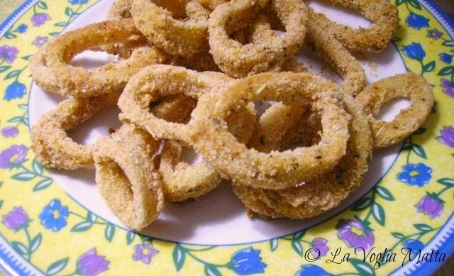 finto fritto di anelli di calamaro