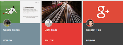 Google+ Collections of Google Trends, Light Trails, and Google+