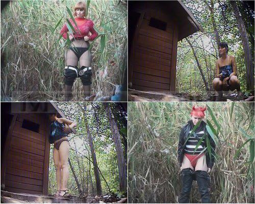PissHunters 8305-8320 (Outdoor voyeur peeing. Voyeur public toilet spy cam)