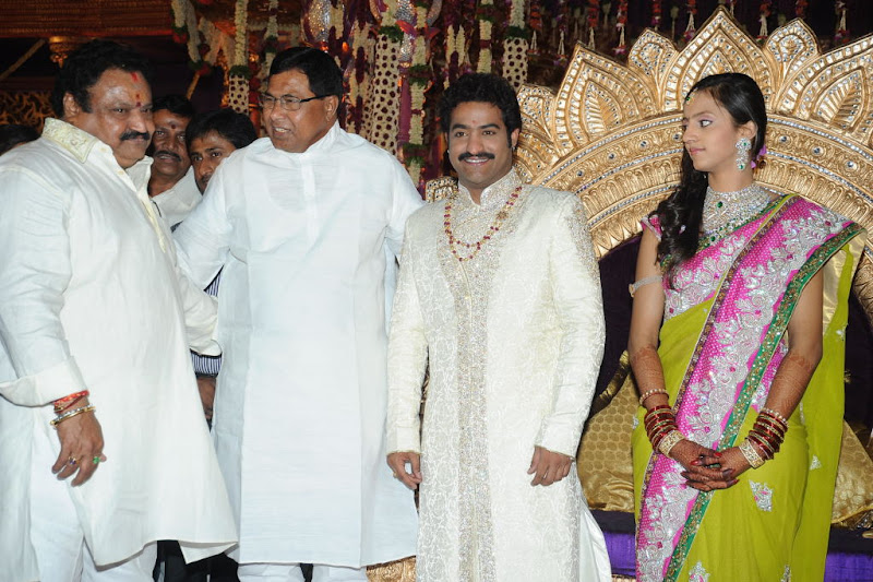 Celebrities  Jr NTR  Pranathi s Marriage navel show