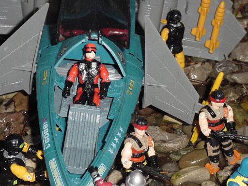 1992 Air Devil, Hurricane, 1994 Blackstar, Funskool Desert Scorpion, Cobra Commander