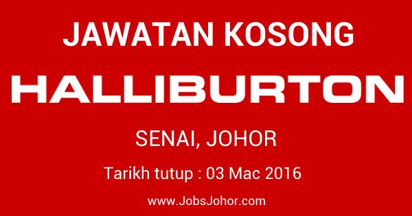 Jawatan Kosong Halliburton Manufacturing & Technology (M) Sdn Bhd 2016