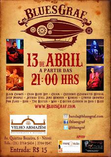 Hoje (13/4) a BluesGraf faz noite de Blues e Rock em Niterói