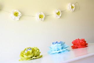 Decoracion floral papel, escaparatismo
