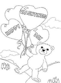 desene de colorat de sf valentin ziua indragostitilor