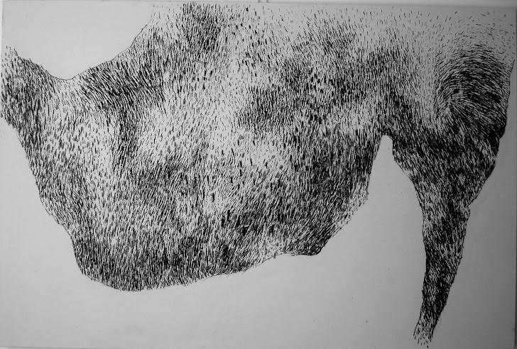 Fusain sur toile 150 x 100 2011