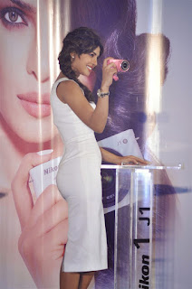 Priyanka Chopra's hot body in White Dress at Camera Launch Event