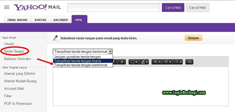Cara Terbaru Membuat Signature Pada Email Yahoo | Berita