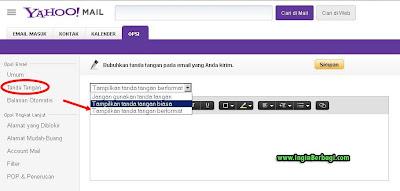 Cara Terbaru Membuat Signature Pada Email Yahoo