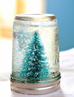 DIY snow globe bottle
