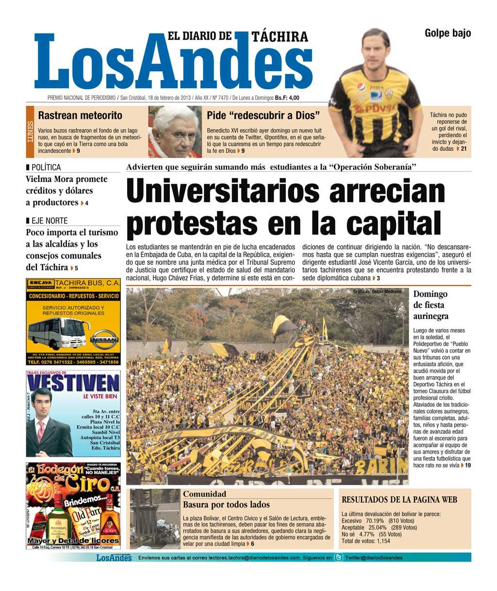 ... arrecian protestas en la capital y +Noticias Los Andes vía RFN