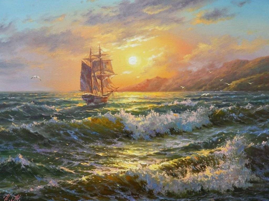 Im genes arte pinturas pinturas de paisajes con barcos - Cuadros con fotos ...