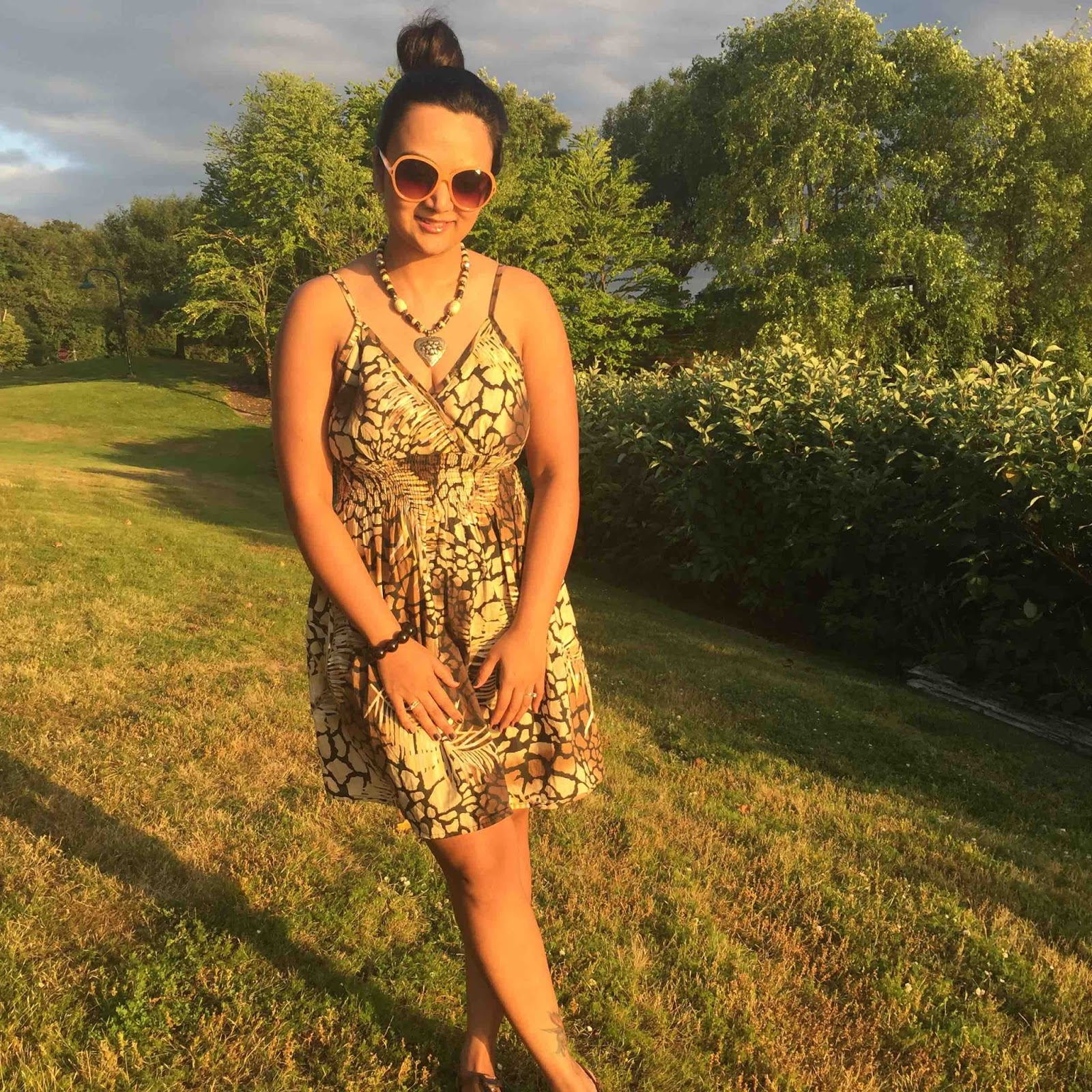 Leopard prints dress, how to wear leopard prints, Ananya in a dress, gene coulon park