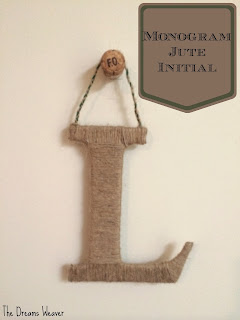 Monogram Jute Initial~  The Dreams Weaver