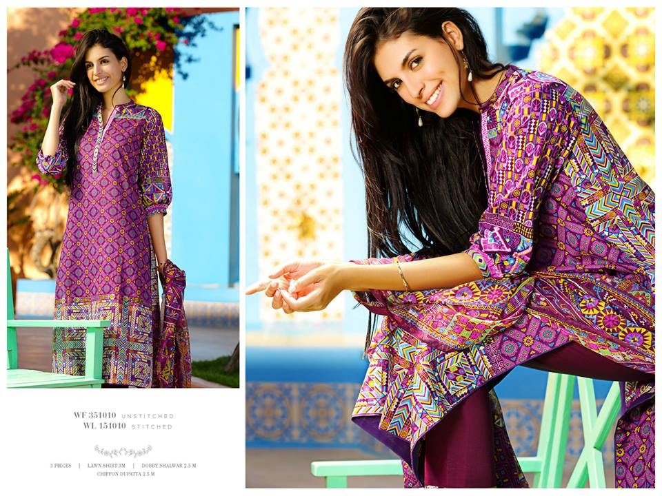 Beautiful colour summer lawn collection