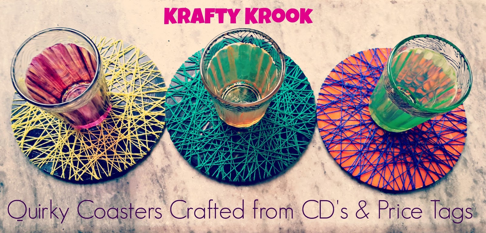 Krafty Krook Diy Quirky Coasters From Cd 39 S And Price Tags
