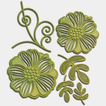 Spellbinders Shapeabilities Victorian Garden Romantic Blooms 1 SBS4-532