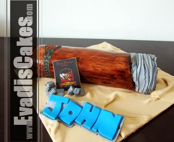 Side view picture of Cigar Sculpture Cake