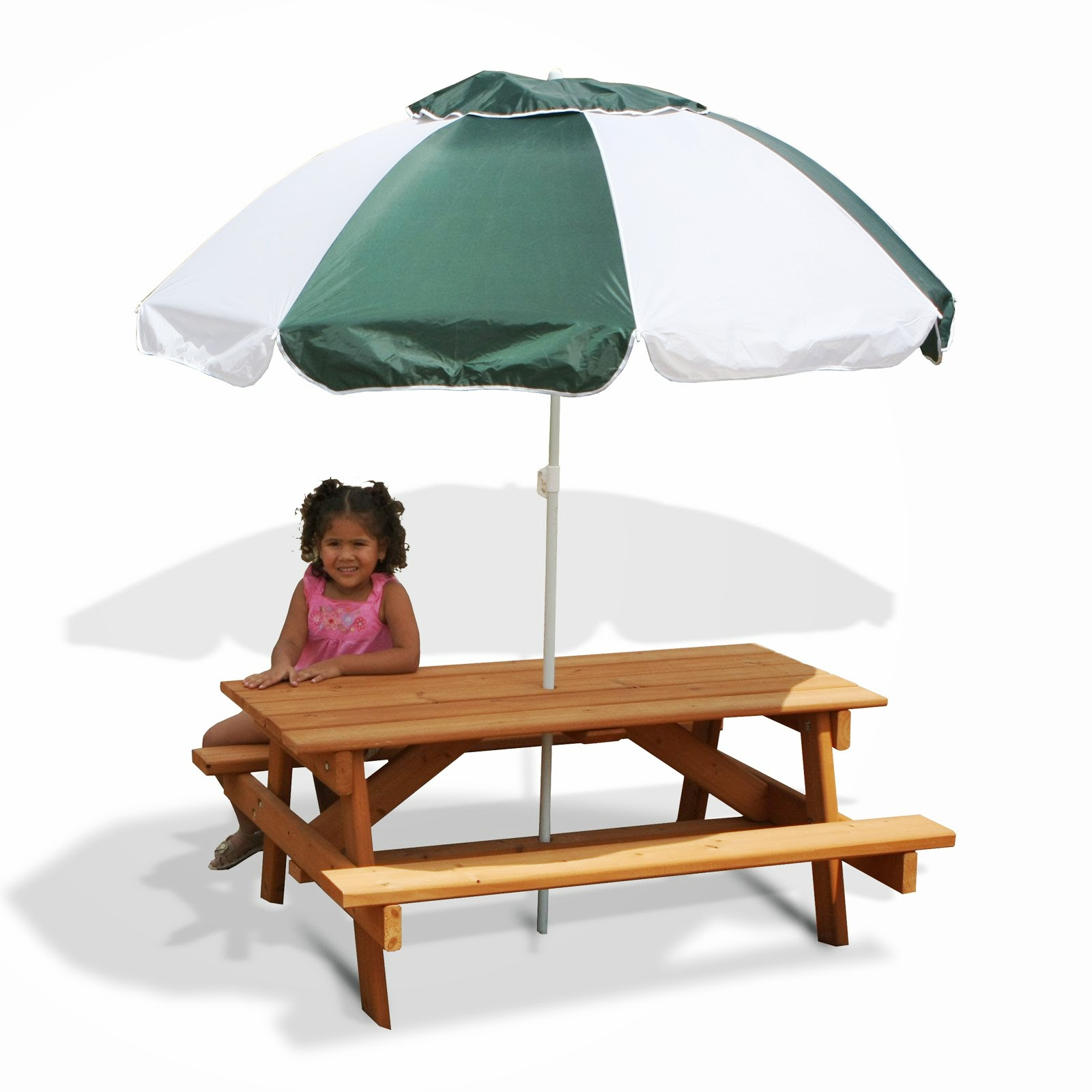 Childrens Picnic Table and Umbrella Design