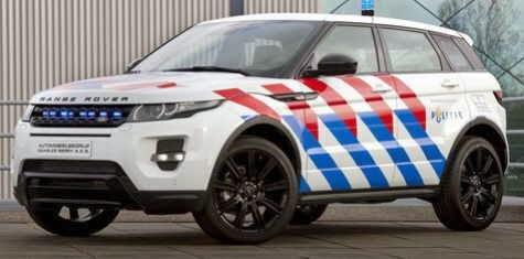 Gambar Modifikasi Mobil Range Rover Berbaju Polisi