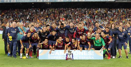 Barça campeão da Supercopa da Espanha 2013 com Neymar