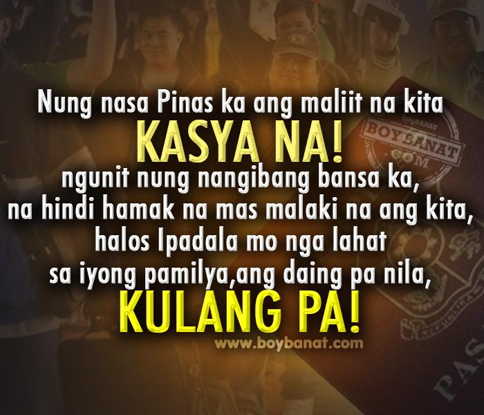 tagalog ofw quotes and sayings boy banat