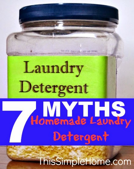 Homemade Laundry Detergent Myths