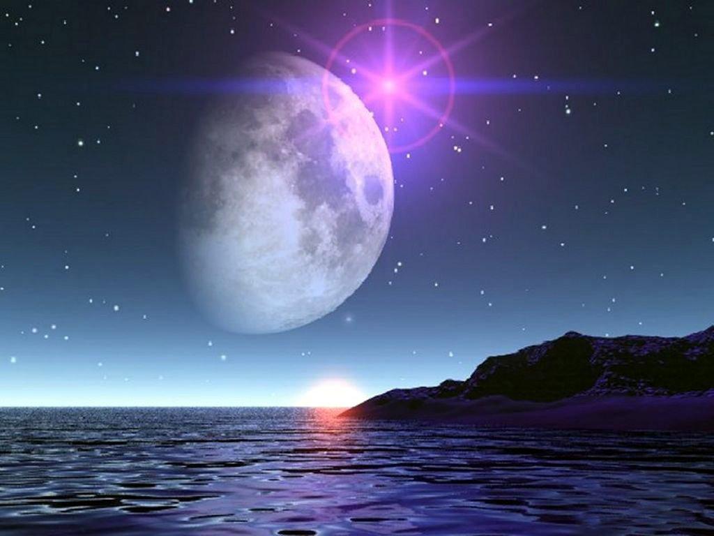 """Résultat de recherche d'images pour """"image de la lune et les etoiles"""""""