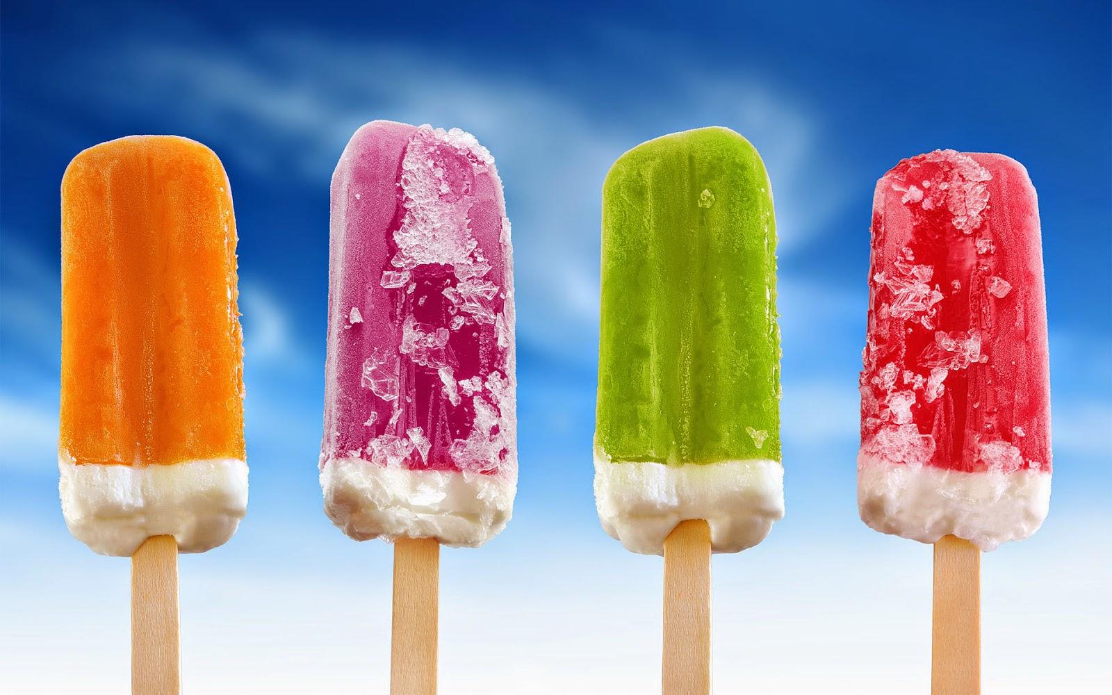Achtergrond met ijsjes