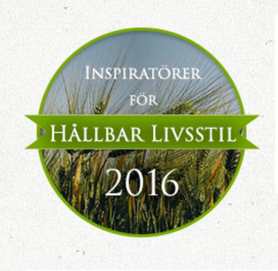 Hållbar livsstils inspiratör 2016!