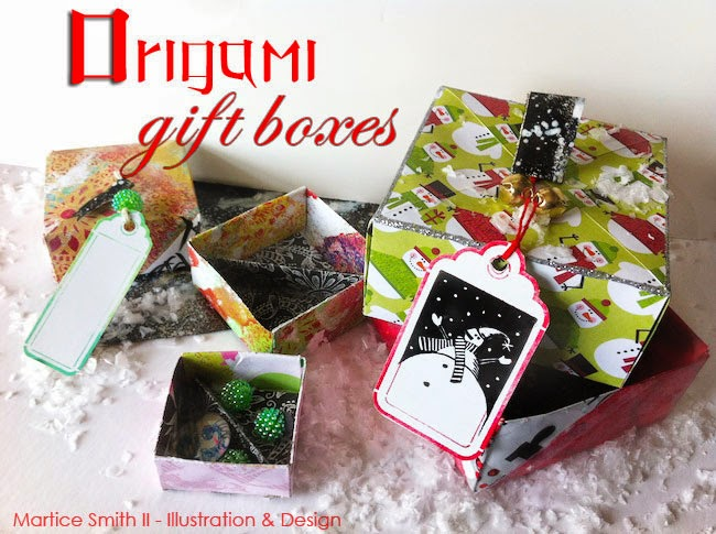 Origami Gift Boxes; Artist Martice Smith II