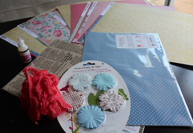 materiales scrapbooking