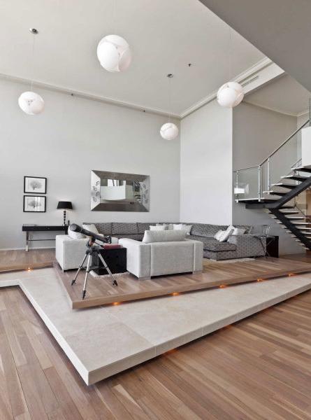 Double floor living room