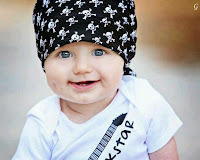 Baby Pictures Style With White Dress & Cap Kids Photos